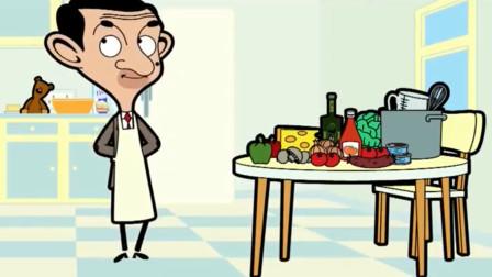 憨豆先生:憨豆自己做披萨,发现做的特别的好吃,准备自己开个店
