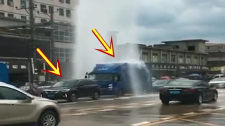 遇上免费洗车,这些司机才不会手软,5秒后精彩发生!