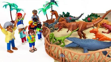 农夫开拖拉机挖掘恐龙化石 组建恐龙公园