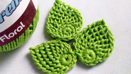 钩针小物系列,一款漂亮的爱尔兰钩针树叶,与爱尔兰钩针花绝配!