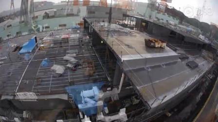 延时拍摄,一艘大型游轮的建造过程,难得一见的大场面