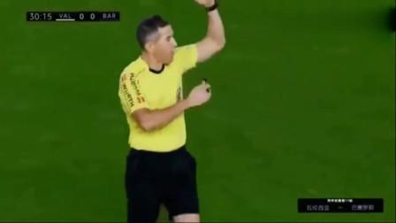 梅西这个进球被吹无效!慢镜头回放,10万巴萨球迷彻底怒了