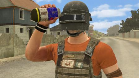 吃鸡动画:这是一颗会爆炸的饮料,用来钓鱼最好不过了