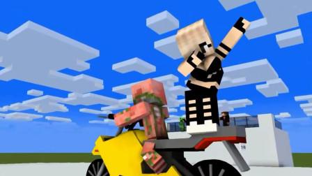 我的世界动画-怪物学院-赛车特技挑战-MechanicZ