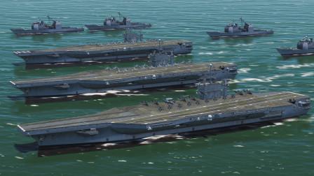 3个航母编队入侵,800枚火箭弹,跟100枚弹道导弹齐射打击!战争模拟