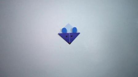 手工折纸,小老鼠的折法,2分钟学会,简单又可爱