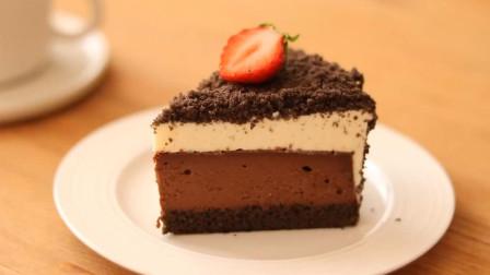 奶油巧克力芝士蛋糕 酥脆可可海绵外衣包裹香甜芝士 日常小甜品