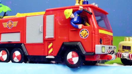 120-1儿童玩具挖掘机频道工程施工现场