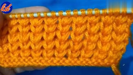 一款耐看的辫子花样织法教程!用来织毛衣或围巾都好看