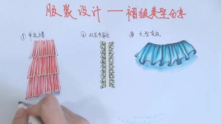 为什么学习服装设计 我要自学服装设计 大型花边褶怎么画的