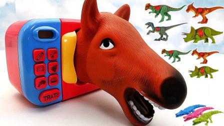 动物园神奇烤箱 变身斑马、恐龙、长颈鹿玩具
