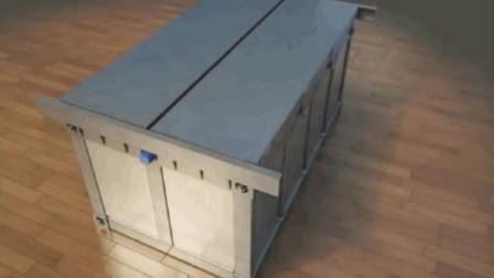 大叔发明一款可躲避地震的床,售价18万,可供人存活半个月