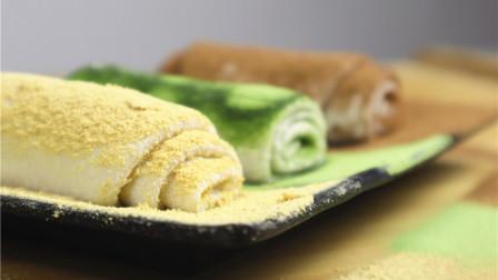 自制软糯的鲜奶麻薯!跟抹茶可可粉黄豆粉一起吃
