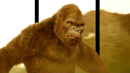 裸眼3D《金刚骷髅岛》:你见过比山还高的大猩猩吗 跳起暴扣直升机