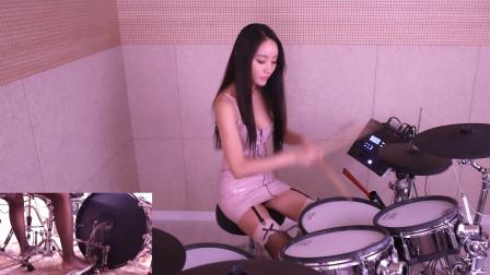 """2013年出道,被誉为""""韩国最美鼓手"""",她的演奏令人热血沸腾"""