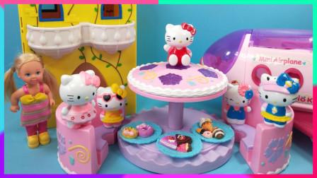 灵犀小乐园之过家家情景喜剧 凯蒂猫一起去旅行分享趣味甜品蛋糕