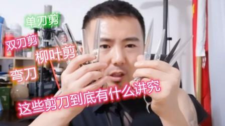 美发师的剪刀,单刃剪,双刃剪,柳叶刀,弯刀这些剪刀到底有什么不同之处?