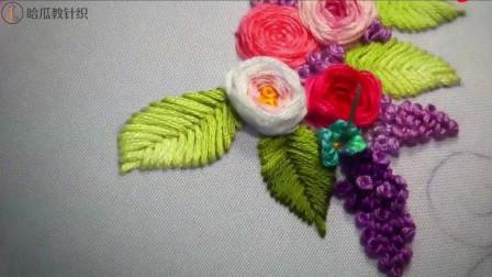 立体玫瑰花手工刺绣欣赏,精美绝伦,栩栩如生
