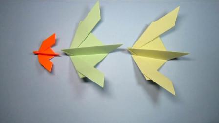 手工折纸,小鸟的折法,简单一学就会可爱又漂亮