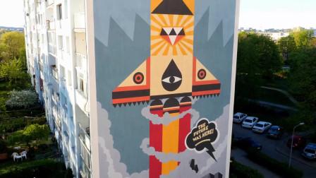波兰格但斯克的扎斯帕街头艺术画廊 -- 欧洲最大的街头壁画艺术区!