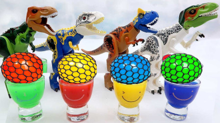 学习颜色魔法糖果杯 帮助恐龙变身组装