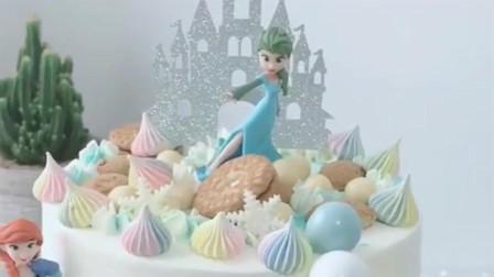 蛋糕制作大全蛋糕裱花蛋糕奶油霜竖面抹刀抹面方法!
