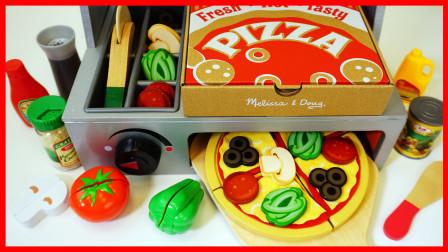 北美玩具 第一季 培乐多橡皮泥黏土和可爱木质烤箱搅拌机玩具做披萨