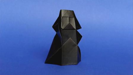 《星球大战》里的黑武士,用纸就能折出来,没想到这么简单!