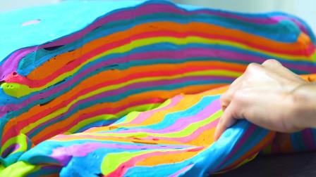 """如何制作""""彩虹百吉饼"""",看着就像在玩橡皮泥"""