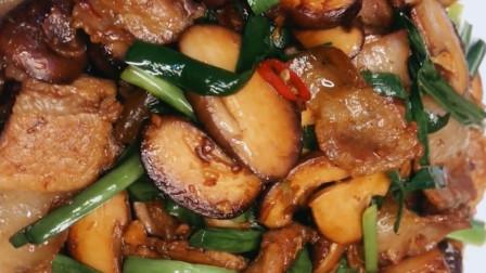 香菇炒肉片,家常小炒