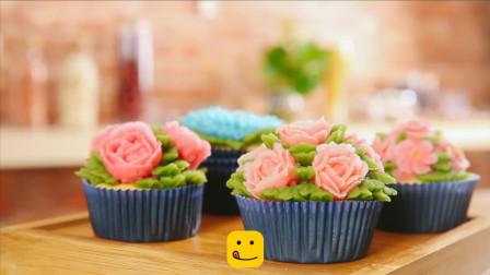 教你在家做裱花杯子蛋糕,颜值和口感都妙极了