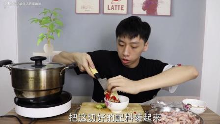 """小伙100元网购""""椰子鸡""""原料, 自制一道椰子鸡, 味道也太好吃了"""