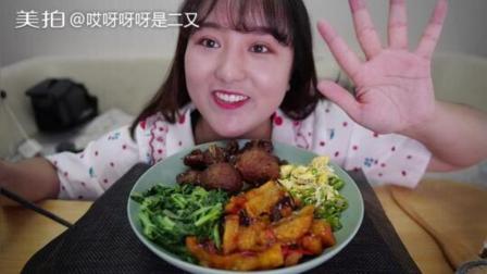 家常菜~肉圆 糖醋排骨 鱼香茄子~