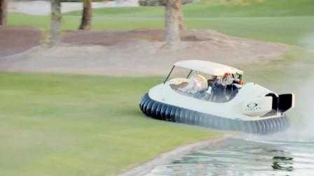 水陆两用的高尔夫球车不走寻常路不伤花花草草