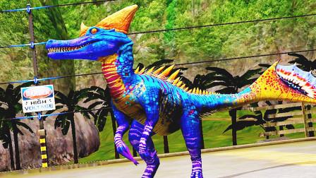 小鸢解说 1493嘚瑟的食肉龙坑我是不会再跳的 侏罗纪世界恐龙公园