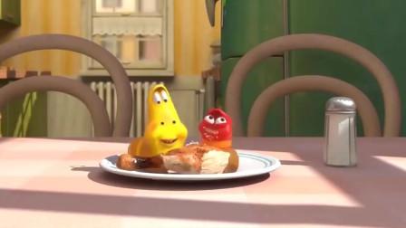 爆笑虫子:两只搞笑的小虫子,把盐当好吃的了,差点齁死