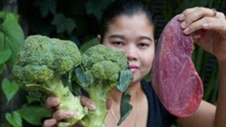 西蓝花炒牛肉,学会了这招,一盘子不够吃!