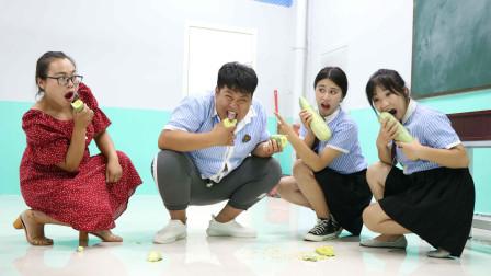 老师让学生比赛吃羊角密争夺大胃王称号没想女学霸一口气吃完