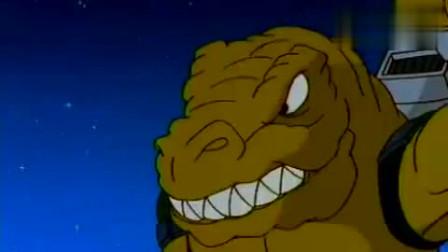 星际恐龙:飞天龙想用功夫对付食肉龙,结果被喷了一身胶水