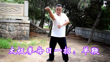 太极拳每日学一招:单鞭,沉松圆活,一学就会