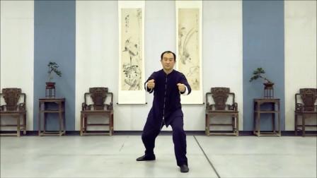 陈氏太极拳老架一路动作示范第七十二式:当头炮