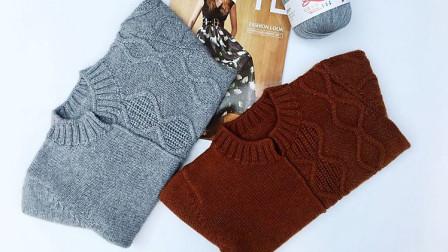 个性不对称花样纯色毛衣依可爱纯手工编织套头毛衣《山水》10缝合2花样编织集锦