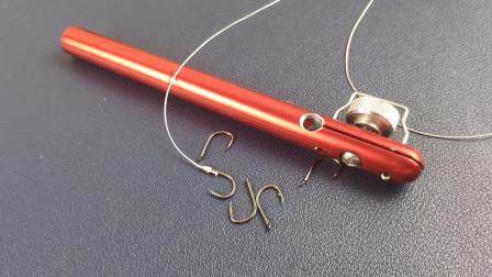 简易绑钩器,分分钟解决新手绑钩难问题