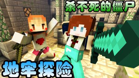 【逍遥小枫 & 馨馨酱】夜袭僵尸村! | 我的世界Minecraft生活大冒险#3(上)