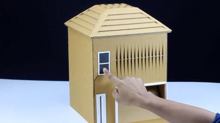 创意手工 如何用纸板手工DIY神奇的比萨机?