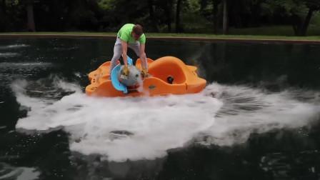 国外小哥想用液氮冷冻一个湖,将-196℃液氮倒湖里,发生了什么?