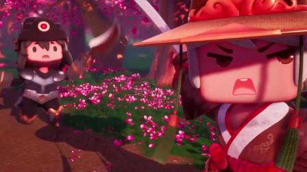 迷你世界《花语程行2》第十一集:程锦衣生气了!逼出剑气秒桃林