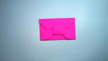 手工折纸,信封的折法,好看又实用2分钟学会