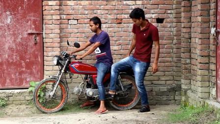 最佳损友背后动手脚,还以为摩托车坏了