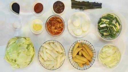 代表性的全民美食辣炒年糕,当作点心,小菜,配菜,都很适合